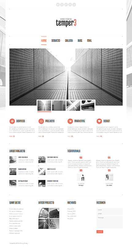 View live Demo for Architectural Bureau Designs - WordPress Fully Responsive Theme