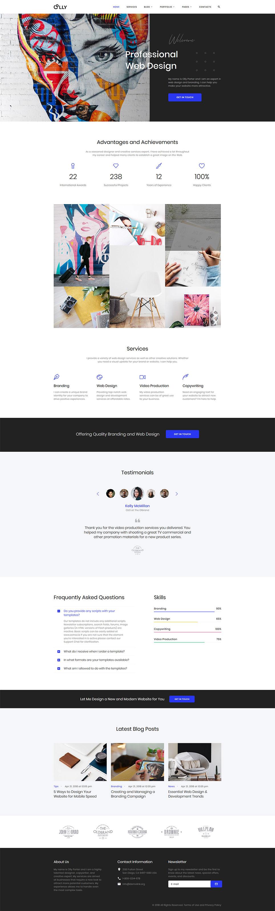 15 Business Templates For Freelancer Websites