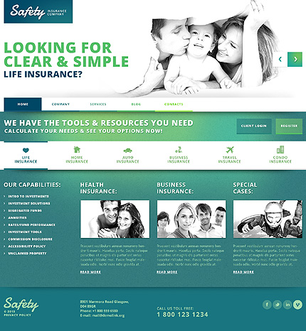 View Live Demo for Safety- Best WordPress Responsive Theme for Insurance Companies