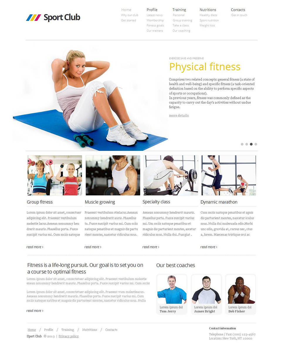 White Website Template for Sport Clubs - image