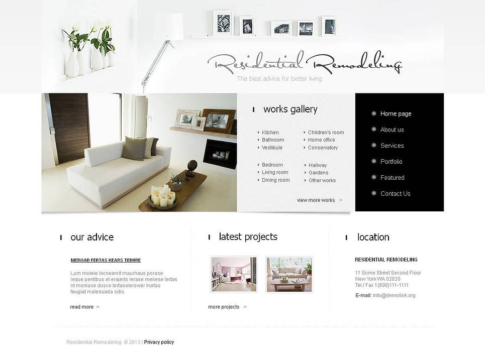 Clean and Minimal Website Template for Interior Design Studio - image