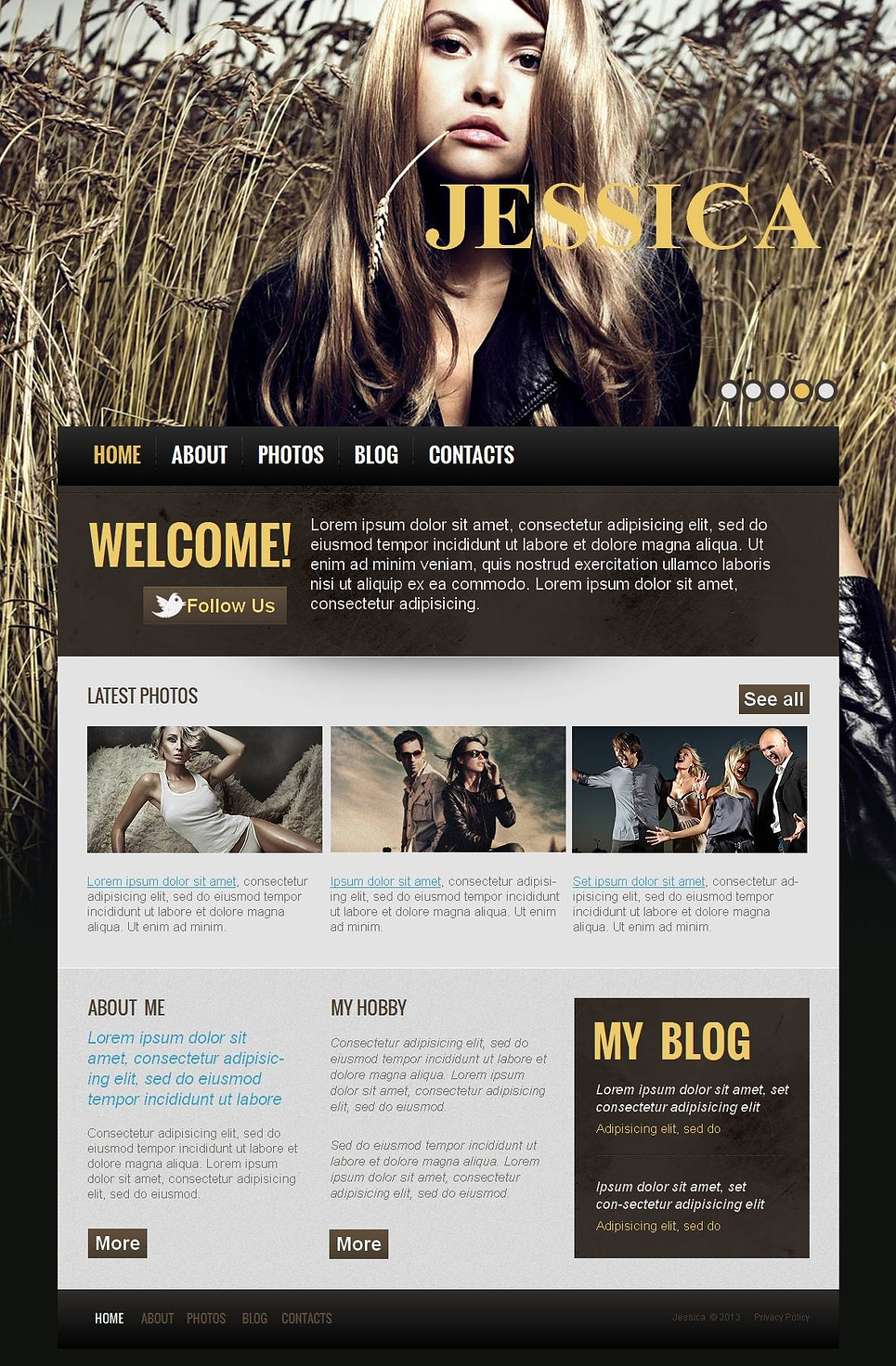 Personal Page Web Template for Photography Artists - image