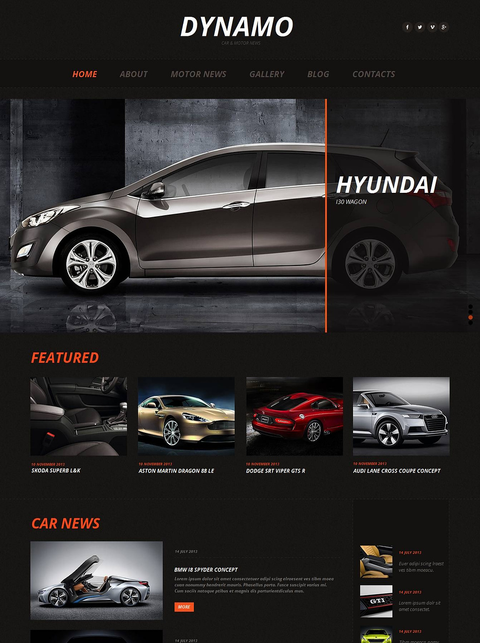 Cars Website Template with Sliding Gallery - image