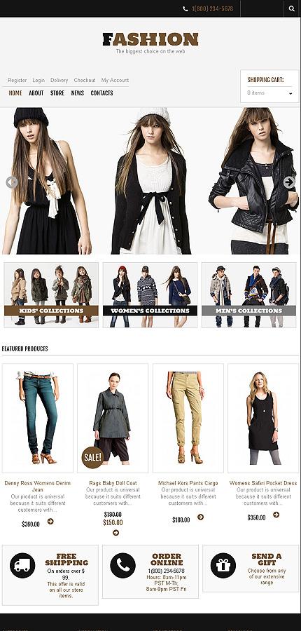 Fashion - Excellent Responsive Fashion Store Jigoshop Theme