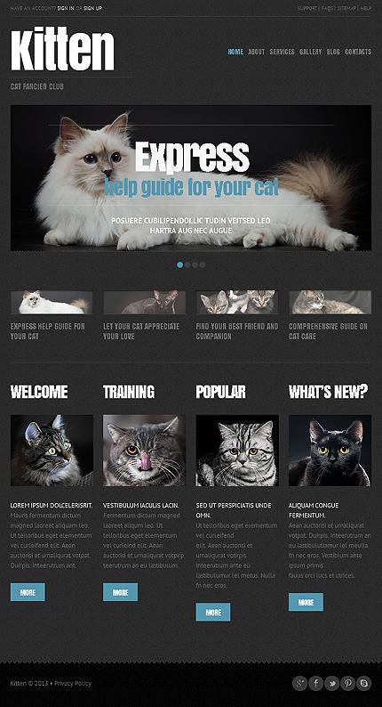 Kitten - Amazing Responsive Cats WordPress Theme