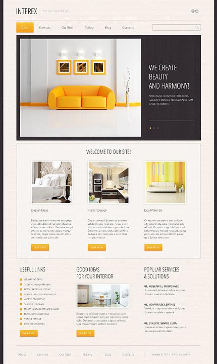 Interex - Minimal Responsive Furniture & Interior Design Drupal Template