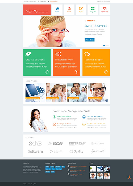 Metro - Bootstrap Based Responsive Business WordPress Theme