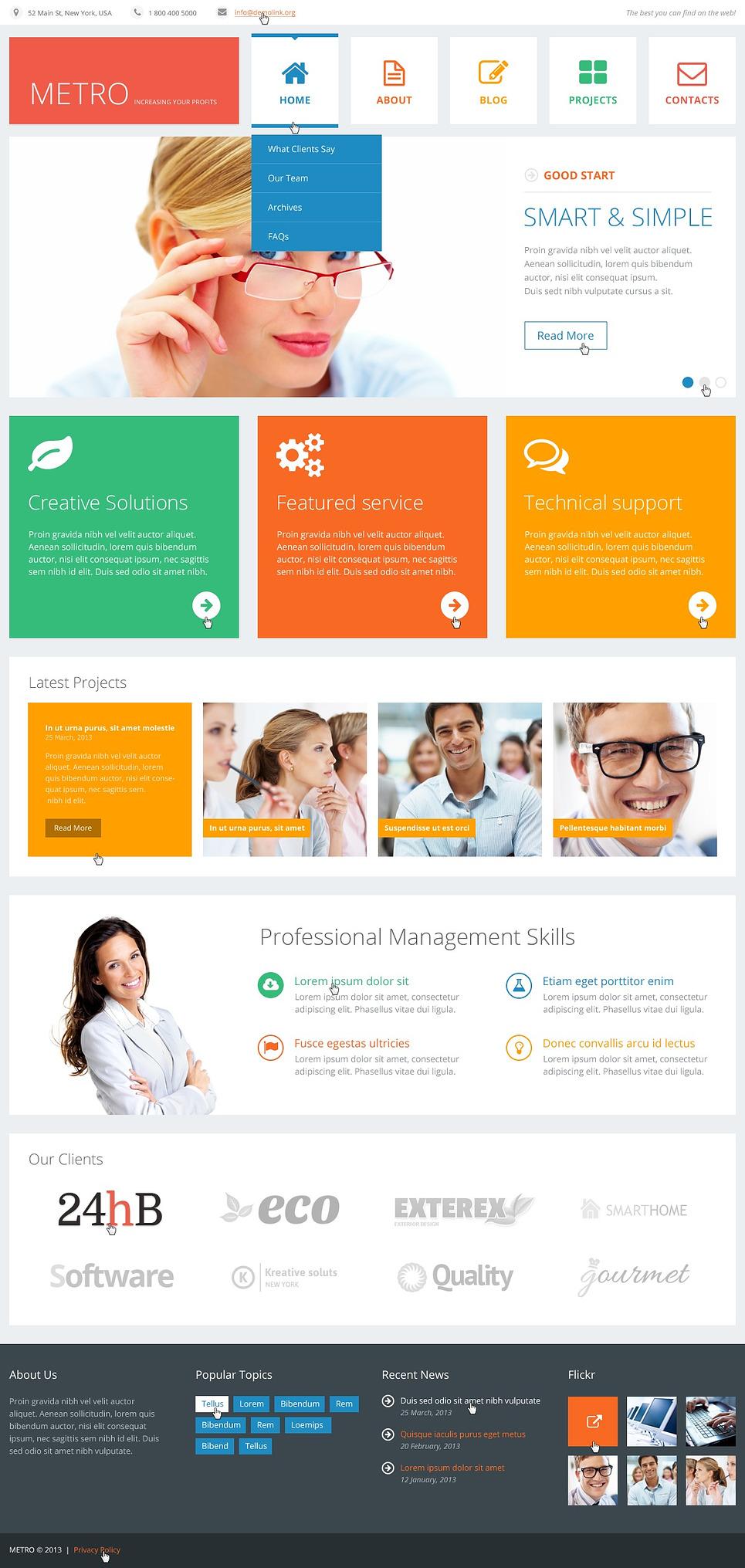 Flat Consulting WordPress Theme New Screenshots BIG