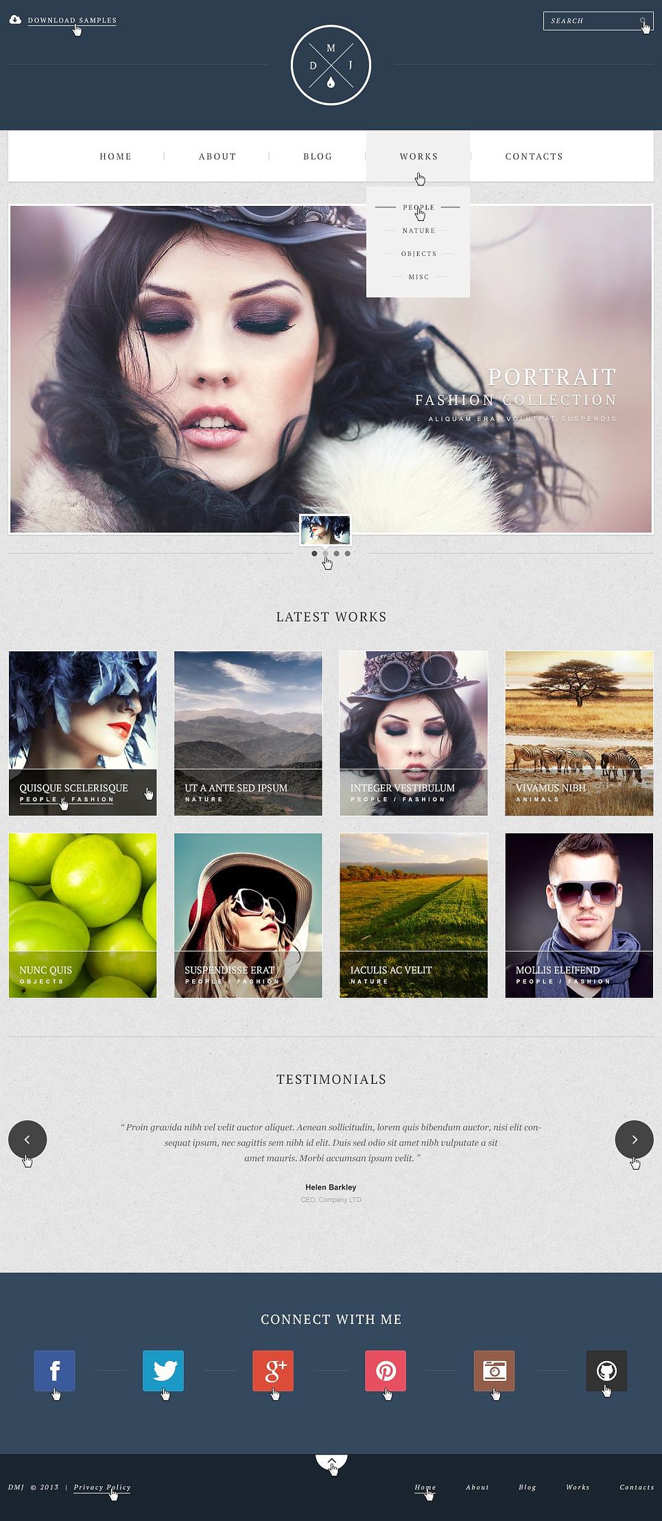 Simple Photographer WordPress Portfolio Theme