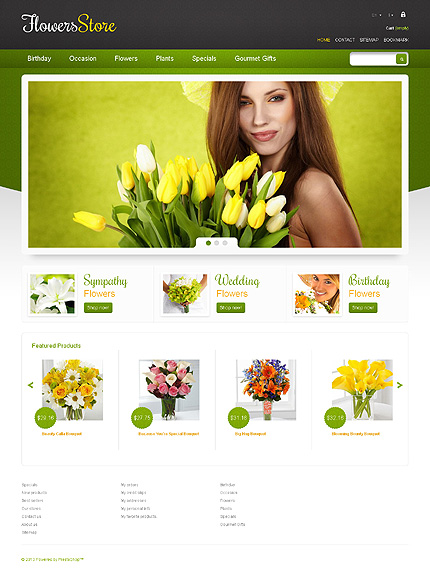 Flower store - Glowing Flower Store PrestaShop Theme