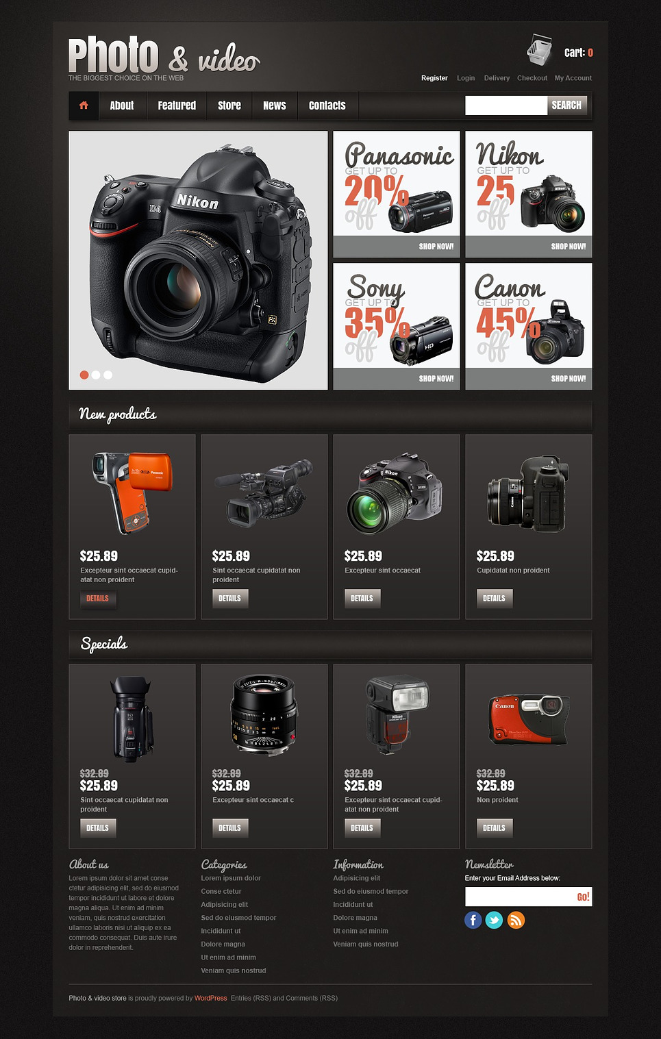 Photo and video - Responsive Photo & Video Store Jigoshop Theme