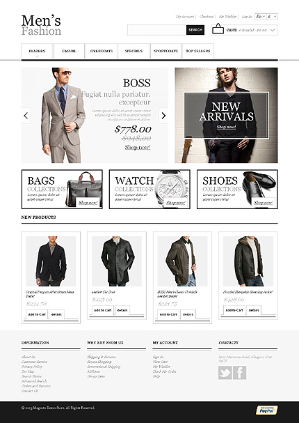 Mens fashion - Trendy Responsive Magento Fashion Store Theme