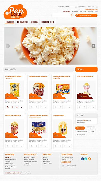 Pop corn - Expedient Magento Food Store Template