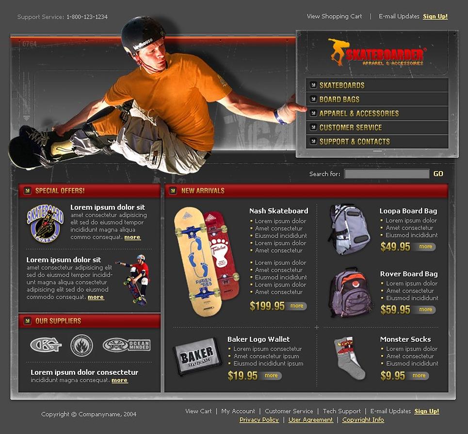 Skating Website Template New Screenshots BIG