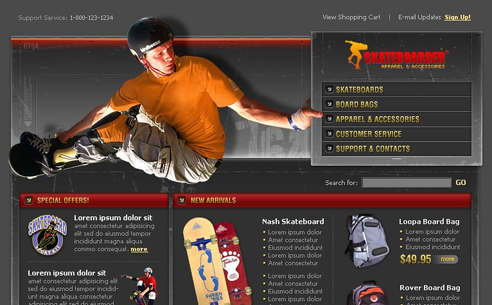 Skating Website Template New Screenshots BIG