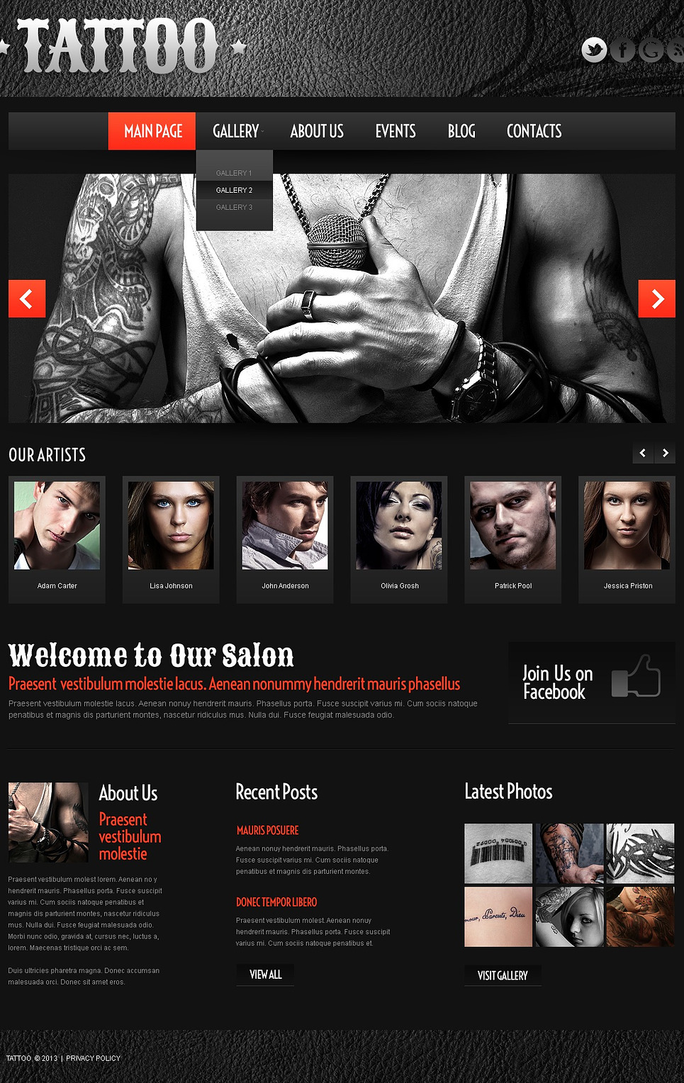 tattoo business wordpress theme web design templates website templates download tattoo. Black Bedroom Furniture Sets. Home Design Ideas