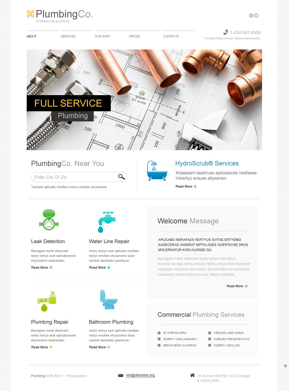plumbing responsive website template web design templates website templates download. Black Bedroom Furniture Sets. Home Design Ideas