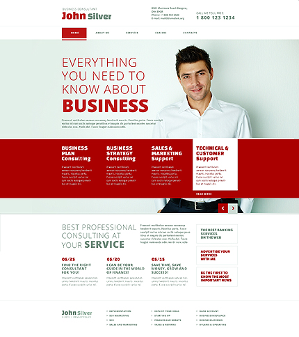 White consulting website template by glenn responsive website website template 45032 accmission Choice Image