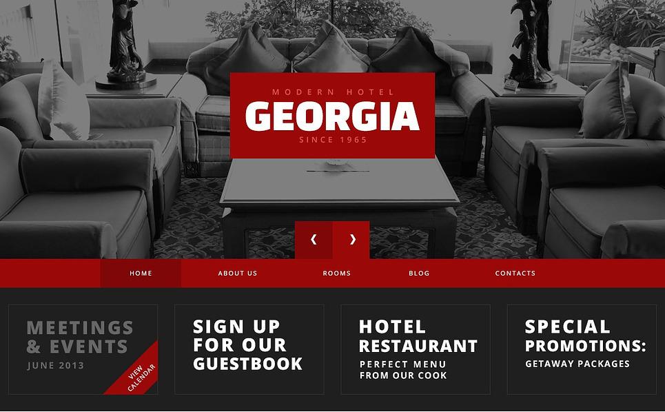 Red Contrast Hotels WordPress Theme New Screenshots BIG
