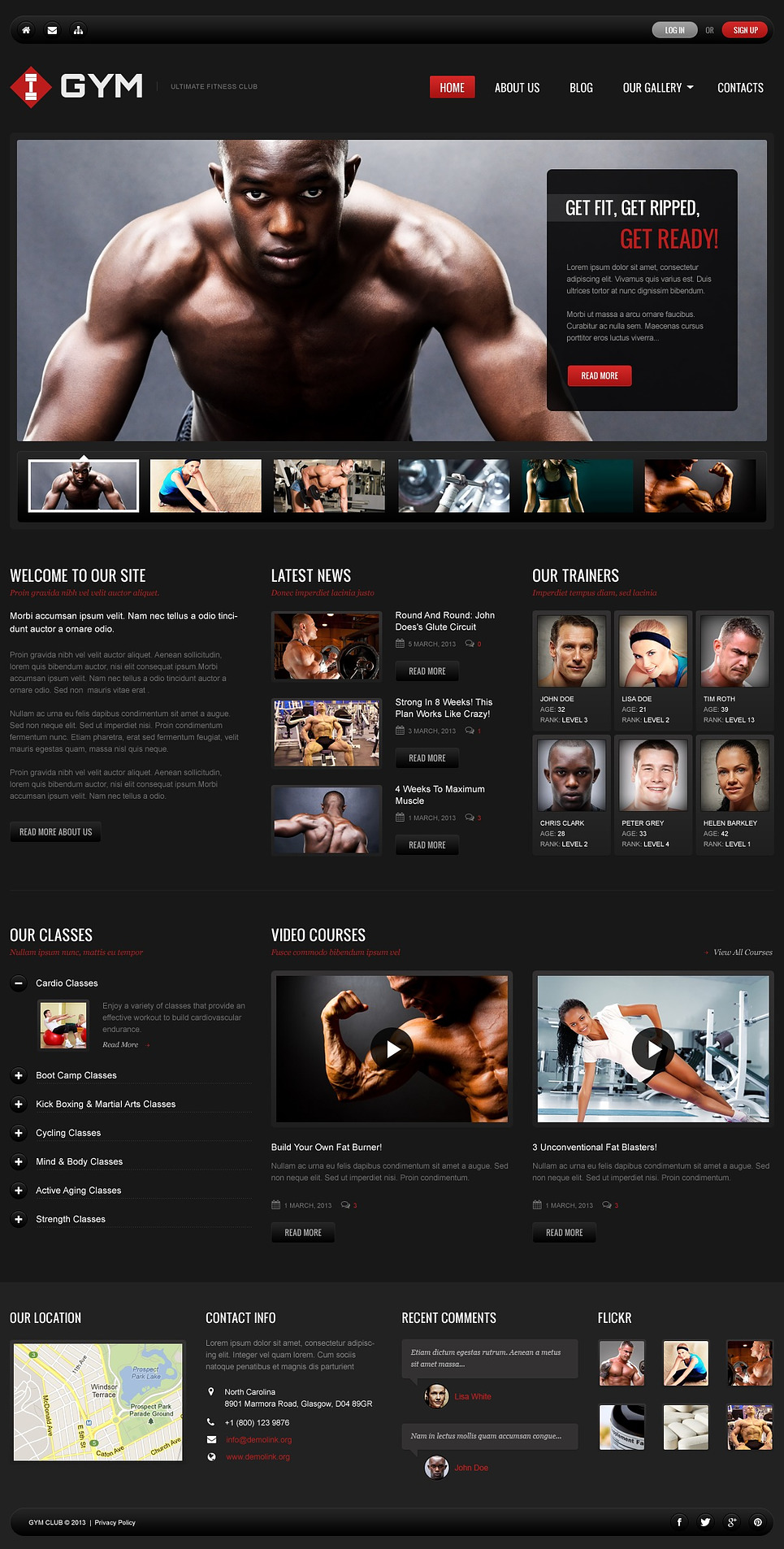 Gym - Ultimate Fitness WordPress Theme