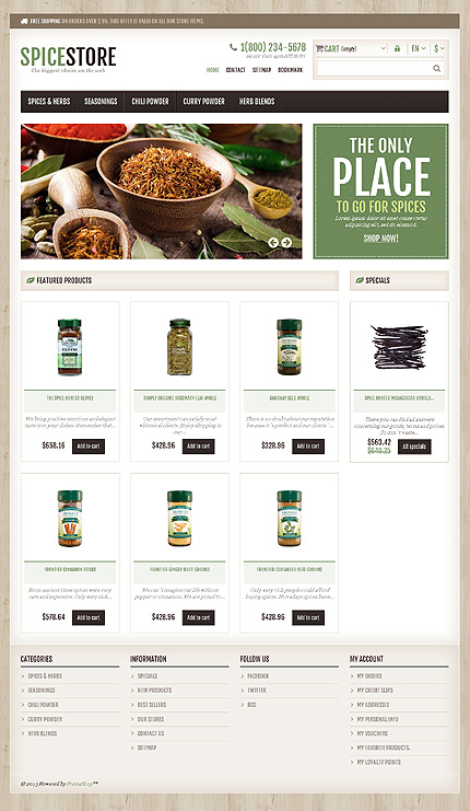 Spice store - Best Responsive Spice Store Theme
