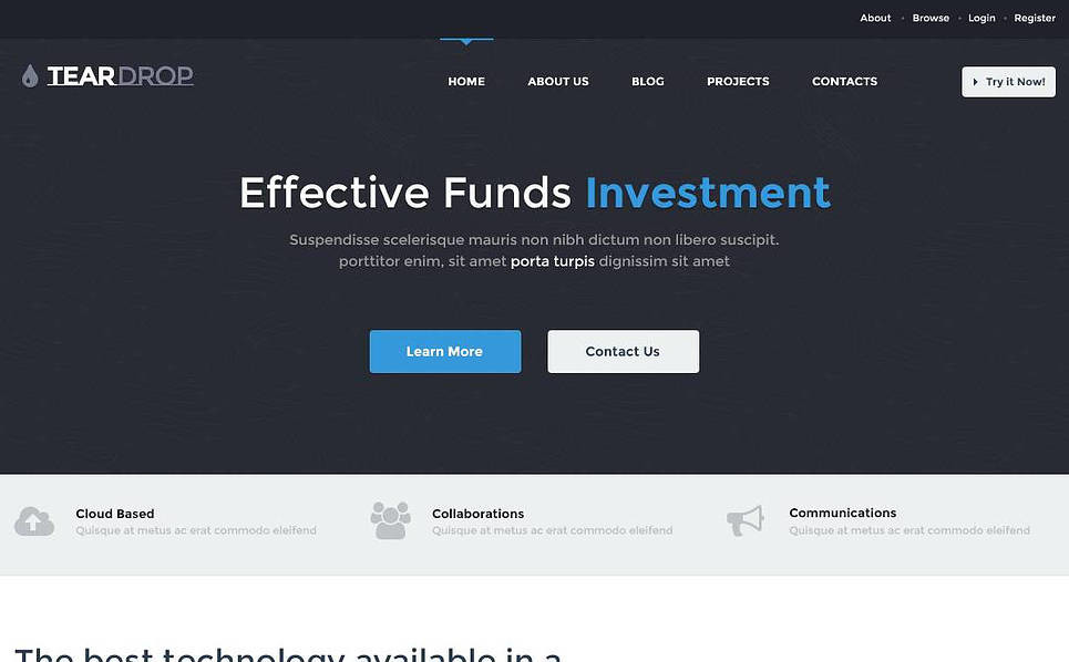 Clean Investment Company WordPress Theme New Screenshots BIG