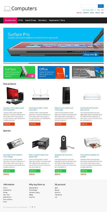 Computers - Awesome Computer Store Magento Theme