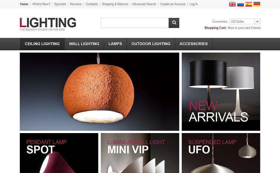 Lighting Solutions OsCommerce Template New Screenshots BIG