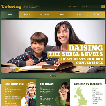 Education website templates free website templates for free ...