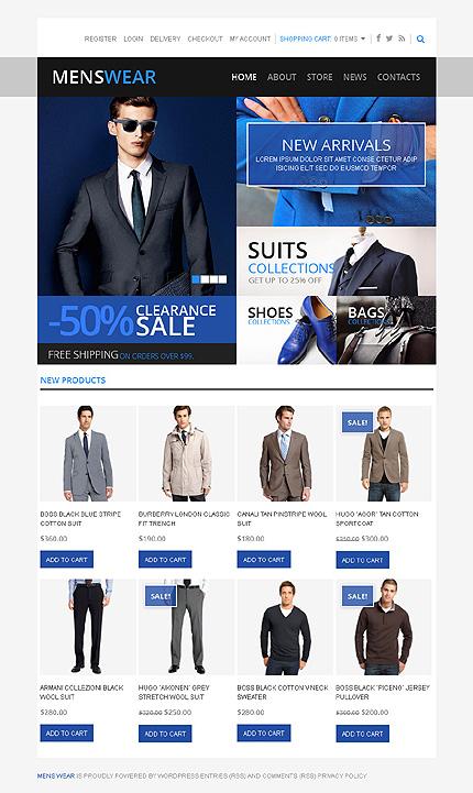 Men's wear - Elegant Responsive Men's Wear Jigoshop Theme