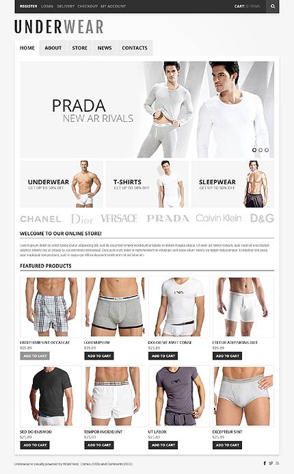 View live Demo for Underwear Store - Fashion Store Responsive WordPress Jigoshop Theme