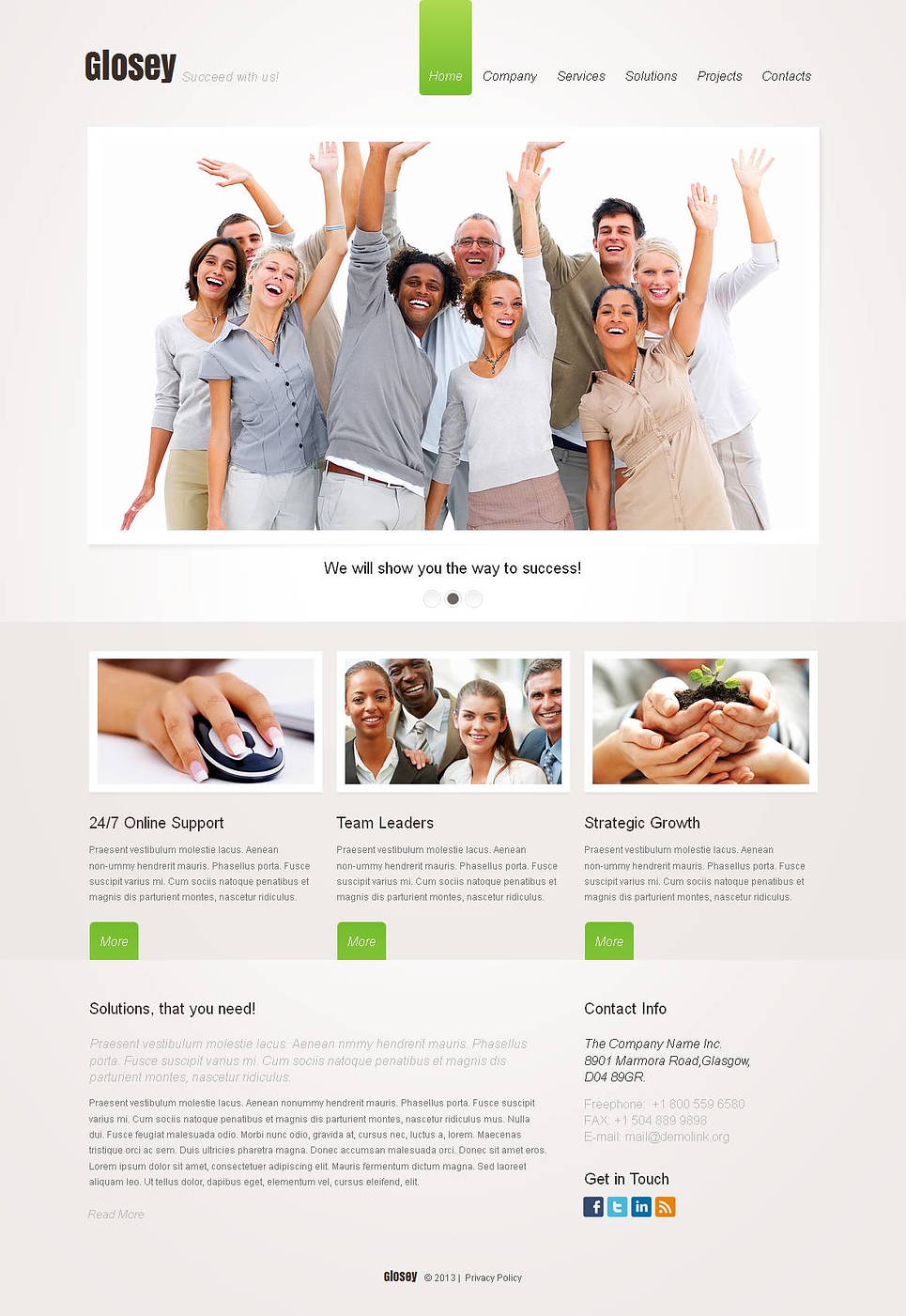 Simple Web Template for Marketing Agencies - image