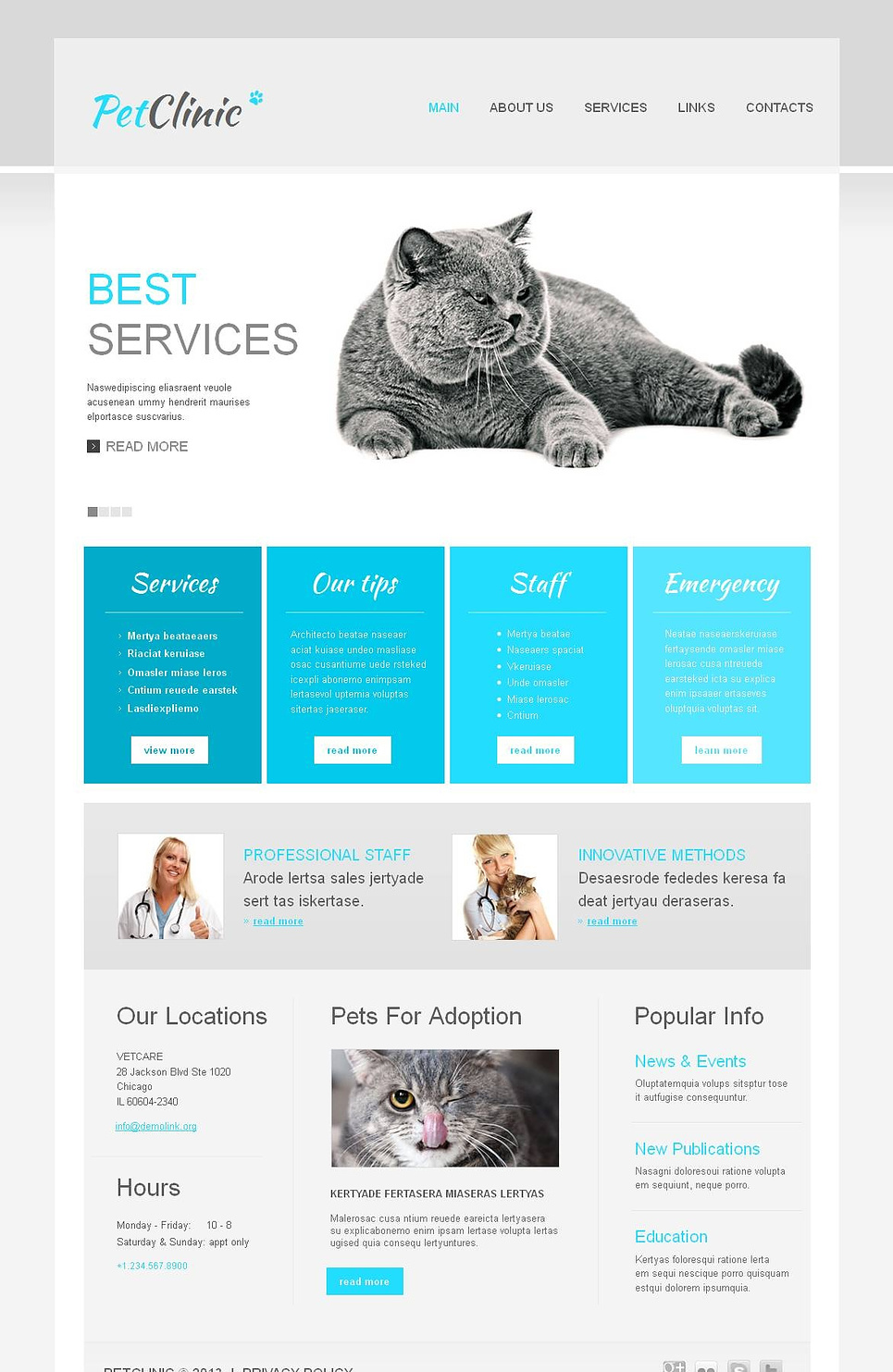 Veterinary Medicine Website Template with jQuery Slider - image