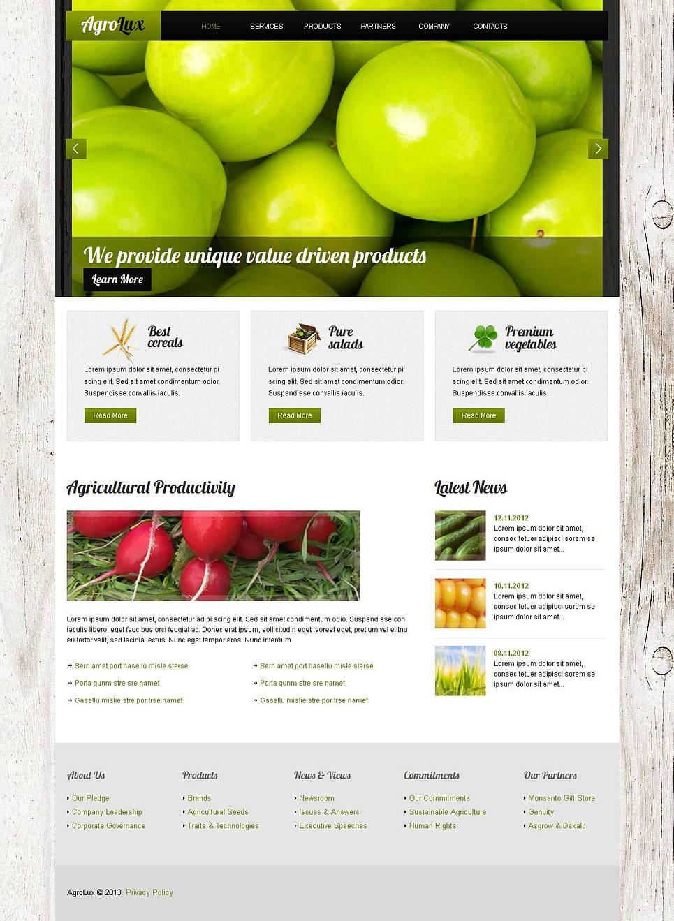 MotoCMS HTML Plantilla #45101 de categoría Agricultura - image