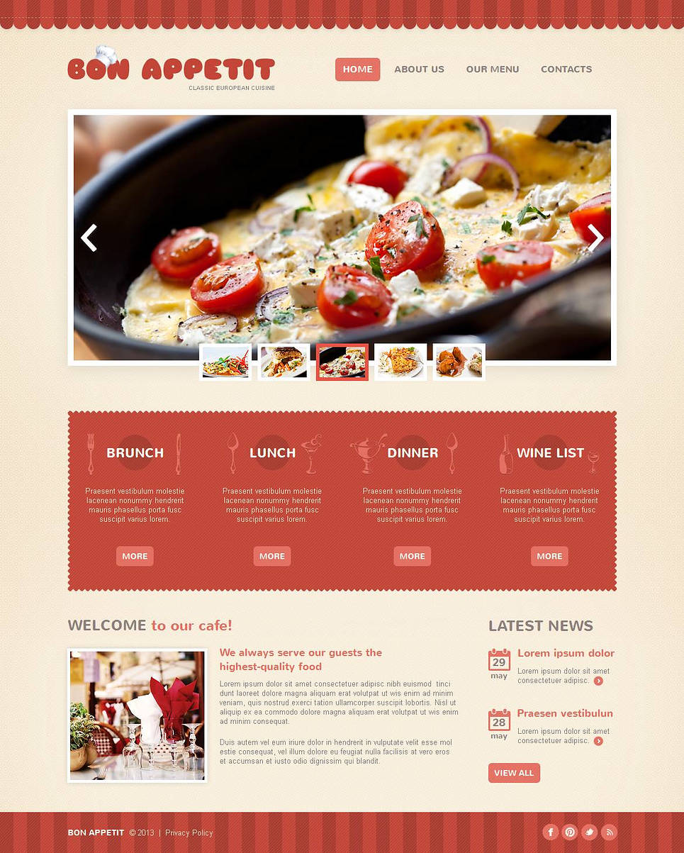 Restaurant Web Template with Creative Design - image