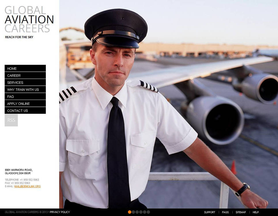 Aviation Website Template with Vertical Navigation - image