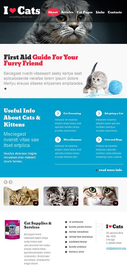 cat responsive website template web design templates website templates download cat. Black Bedroom Furniture Sets. Home Design Ideas