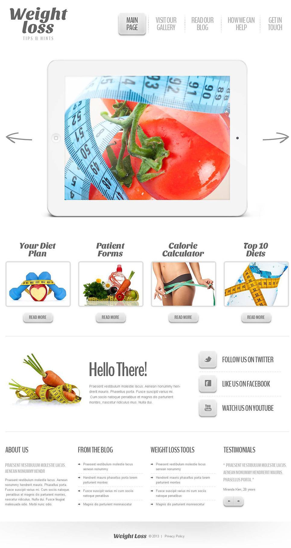 free wordpress themes weight loss