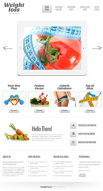 View live Demo for Weight Loss - WordPress Fully Responsive Theme