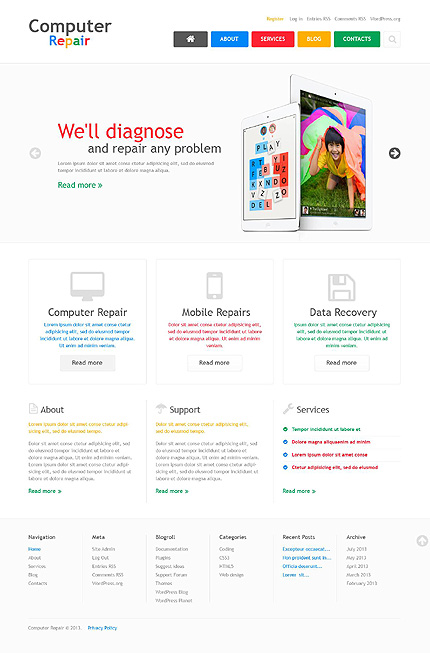 View live Demo for Computer Repair Company– Best Responsive WordPress Theme