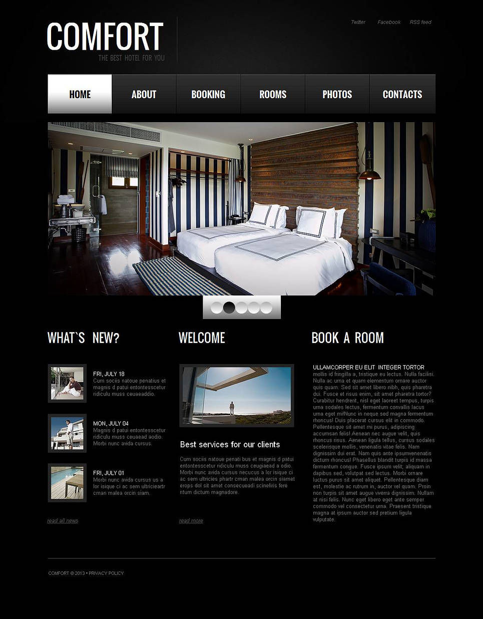 Black Website Template for Hoteliers - image