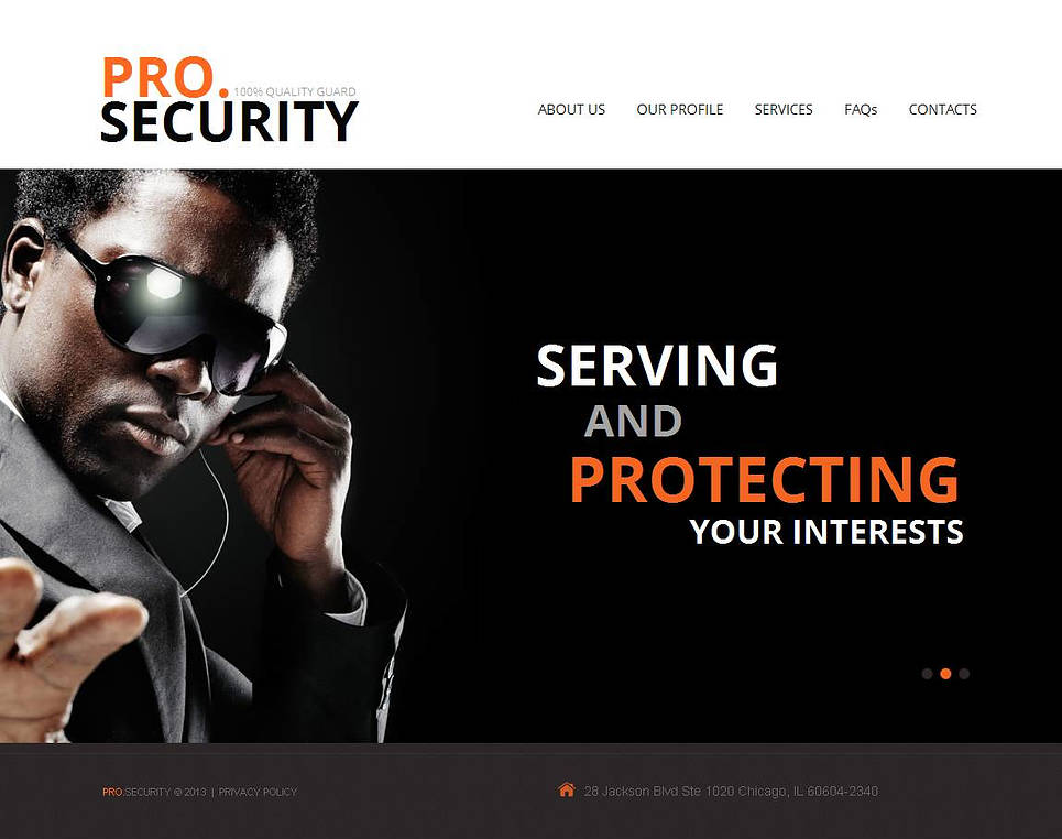 Security Protection Website Template - image