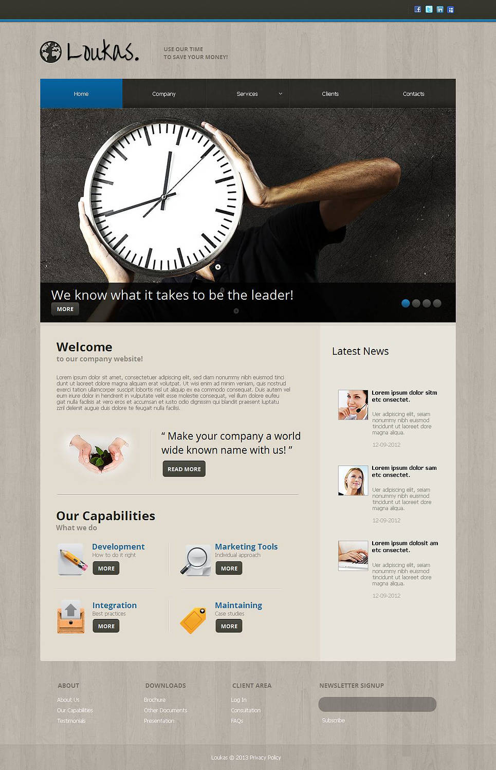 Financial Advisor Website Template with Wood Textured Background - image