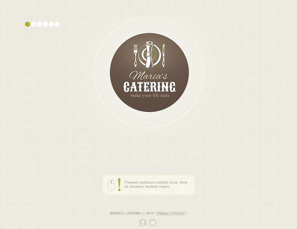 Catering Website Template with Menu Arranged in Photo Gallery - image