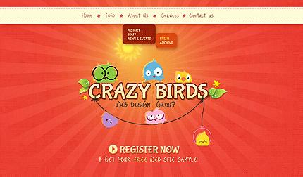 Orange Red Design Studio Website Template by Delta Bootstrap