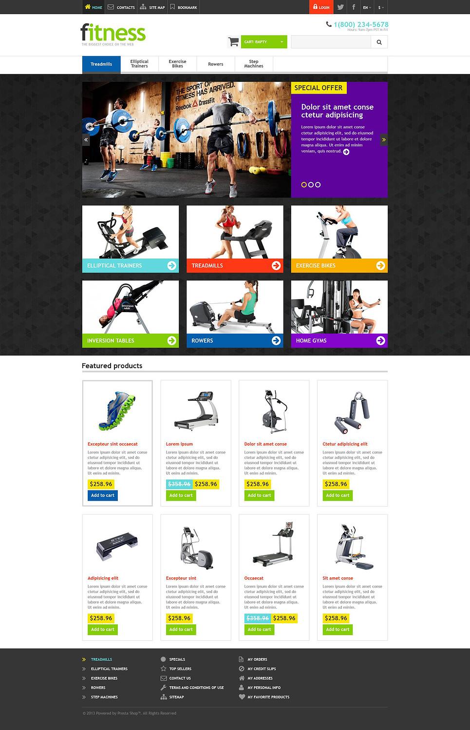 Fitness Store - Stunning Responsive PrestaShop Theme