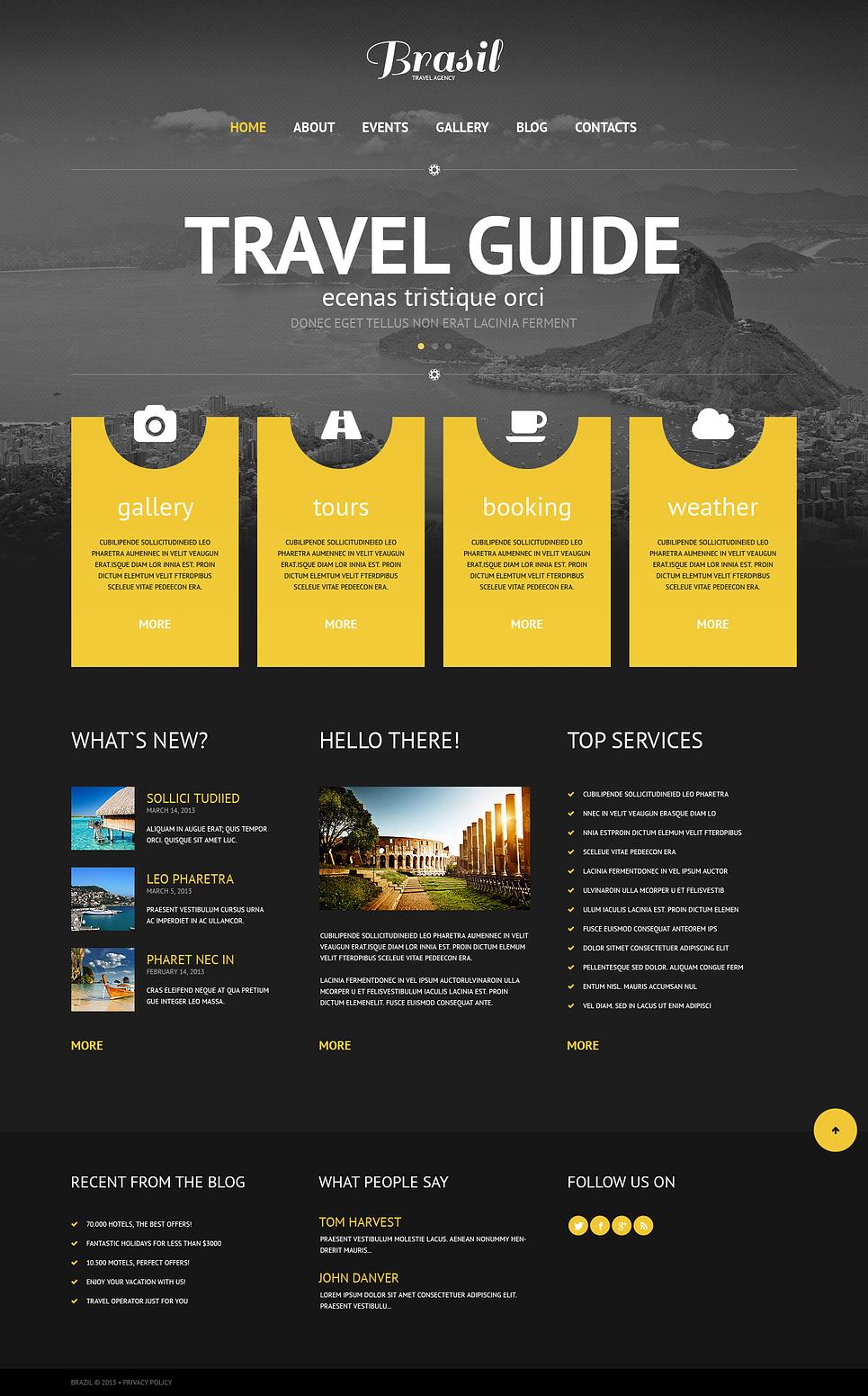 Original Travel Agency WordPress Theme New Screenshots BIG