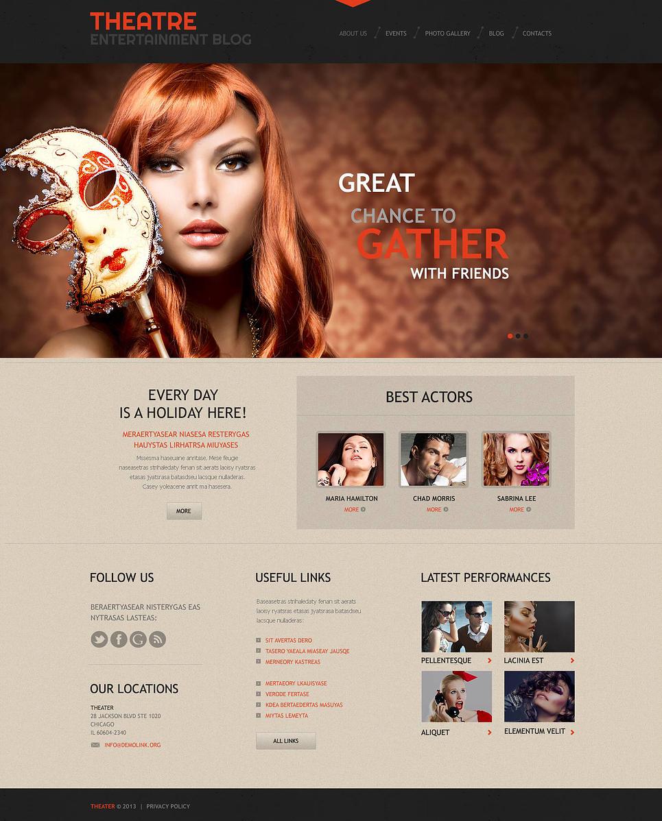 Theater Responsive WordPress Theme - Web Design Templates, Website ...