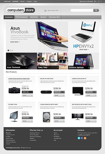 Computer store - Astonishing Computer Store Magento Theme