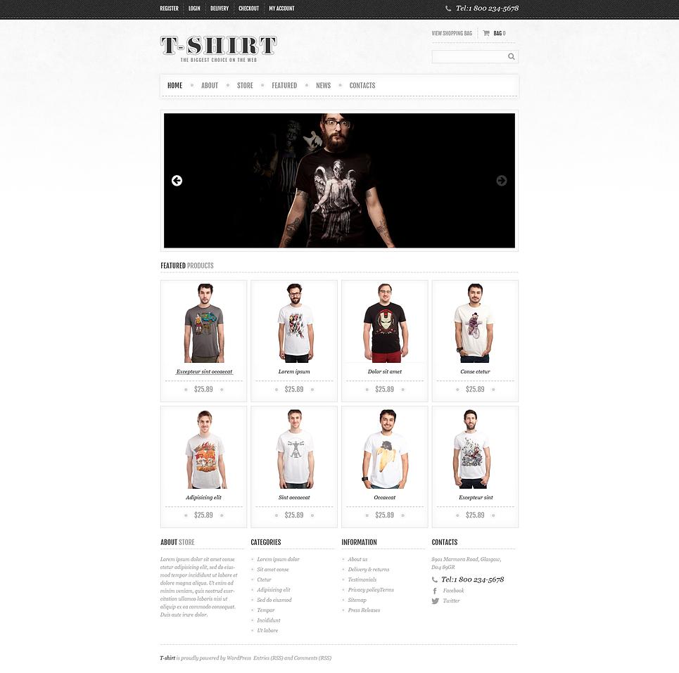 T-shirt - Modish Responsive T-Shirts Store Jigoshop Theme